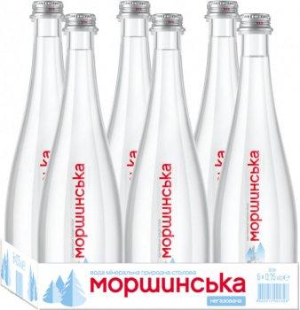 Упаковка минеральной природной негазированной воды Моршинська Преміум 0.75 л x 6 бутылок (4820017001304)