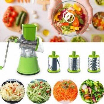 Овощерезка с 3 насадками мультислайсер для овощей и фруктов Kitchen Master
