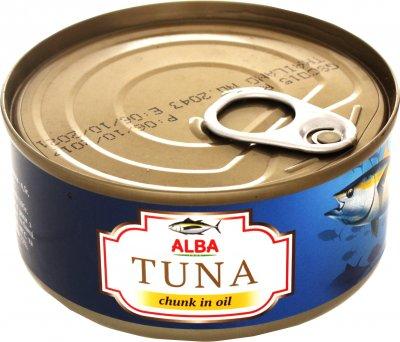 Тунец в масле Alba Food Целый 150 г (8852111028037)