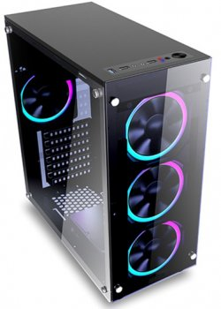 Корпус 1STPLAYER Fire Dancing-V2 Color LED Black