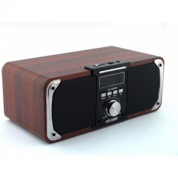 Колонка портативная Bluetooth с FM акустическая c функцией Power Bank Atlanfa AT-1833BT 12W