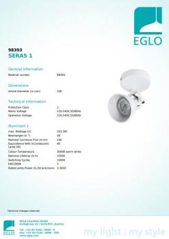 Бра Eglo SERAS 1 98393