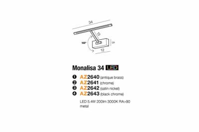 Бра AZzardo MONALISA 34 AZ2642