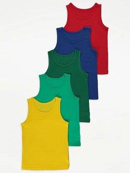Майка (5 штук) для мальчика George РG091 Разноцветные