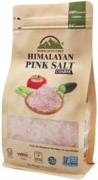Натуральная гималайская розовая соль Himalayan Chef Крупная 227 г (818581013933)
