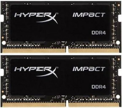 Оперативная память HyperX SODIMM DDR4-2933 32768MB PC4-23500 (Kit of 2x16384) Impact (HX429S17IBK2/32)