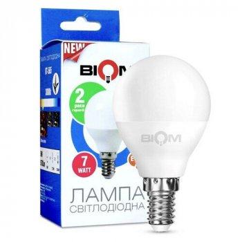 Світлодіодна лампа Biom BT-566 G45 7W E14 4500К матова