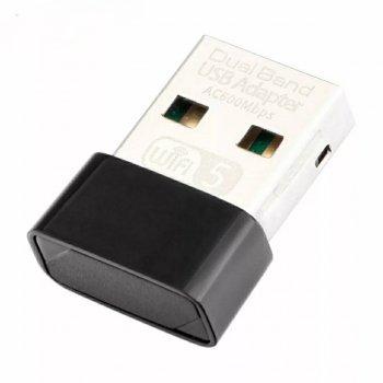 WiFi 5 адаптер двухдиапазонный 2.4\5.8Ghz 802.11ac 600Mbps