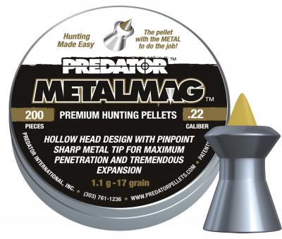 Пули пневм JSB Metalmag, 5,5 мм , 1,1 г, 200 шт/уп