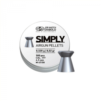 Пули пневм JSB Diabolo Simply, 4,5 мм ,0.52 гр, 500 шт/уп