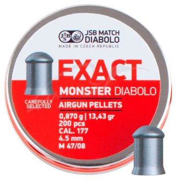 Пули пневм JSB Diabolo Exact Monster, 4,52 мм , 0,870 гр. (200шт/уп)