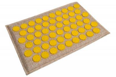 Масажний килимок (аплікатор Кузнєцова) Lounge Mini 32*21 см Жовтий