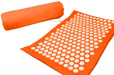 Масажний килимок (аплікатор Кузнєцова) Релакс 55*40 см Помаранчевий