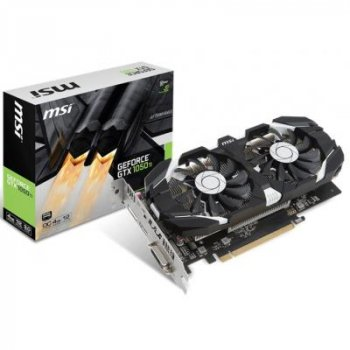 Видеокарта MSI GeForce GTX1050 Ti 4096Mb DUAL FANS OC (GTX 1050 Ti 4GT OC)