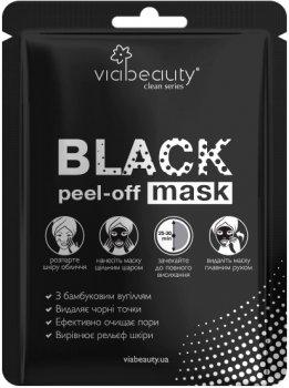Маска Via Beauty Очищающая Black Mask с бамбуковым углем 10 мл (6942560630096 / 6971663406130)