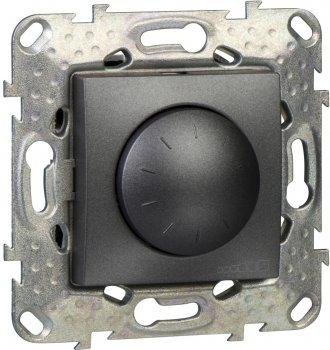 Світлорегулятор поворотно-натискний Schneider Electric 4-400 Вт Графіт (MGU5.513.12)