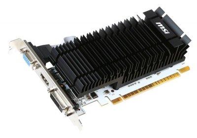Відеокарта MSI GeForce GT 730 2GB GDDR3 902MHz/1600MHz, 64 Bit, Silent, Low Profile, DVI, D-sub, HDMI