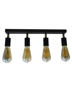 Світильник настінний бра 100lamp Loft Е-27 метал, чорний (NL 1222-4)