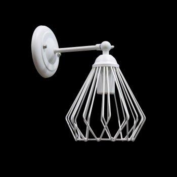 Світильник настінний бра 100lamp Loft Е-27 метал, білий (NL 05371-1W)