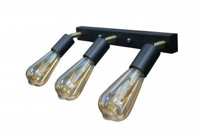 Світильник настінний бра 100lamp Loft Е-27, планка, метал, похилий механізм (NL 1222-3)