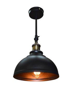 Світильник настінний бра 100lamp Loft Е-27 метал, чорний (NL 205-1)