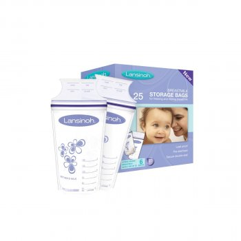 Пакети для зберігання і заморожування грудного молока (25 шт., з поліетилену)