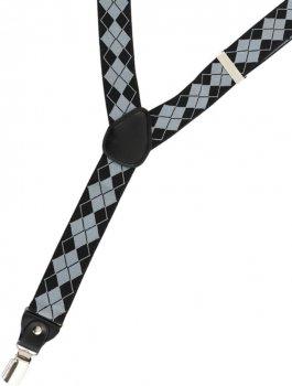 Подтяжки Trаum 8510-06 Черные с серым (4820008510068)