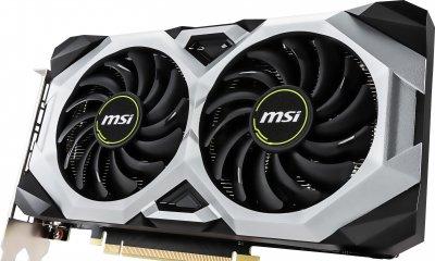 MSI PCI-Ex GeForce RTX 2060 Ventus 6G 6GB GDDR6 (192bit) (1680/14000) (3 x DisplayPort, 1 x HDMI 2.0b) (RTX 2060 VENTUS 6G)