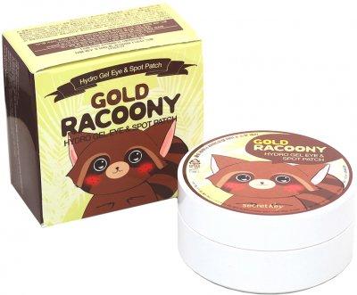 Гідрогелеві патчі під очі Secret Key Gold Racoony Hydrogel Eye Spot Patch із золотом 60 шт. + 30 шт. (8809305999215)