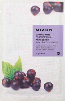 Тканевая маска для лица Mizon Joyful Time Essence Mask Acai Berry с экстрактом ягод асаи 23 г (8809479166529)
