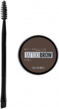 Помадка для бровей Maybelline New York Tatto Brow оттенок 005 Темно-коричневый 2 г (3600531516758)