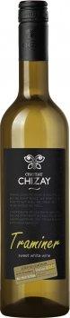 Вино Chizay Трамінер біле десертне 0.75 л 16% (4820001632767)