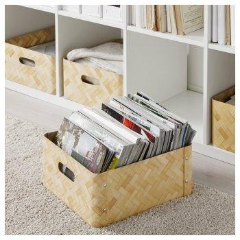 Ящик для зберігання IKEA BULLIG 32x35x16 см бамбук 902.648.88