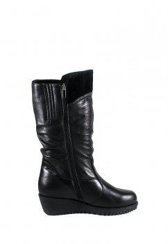 Сапоги зимние женские SND 41543-2-35Б черная кожа