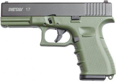 Пістолет стартовий Retay G17 9 мм Оливковий (11950816)