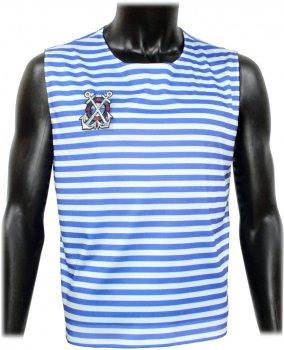 Майка Seta Decor Тельняшка c мужским значком 17-779 S-M Бело-синяя (2000045398016)
