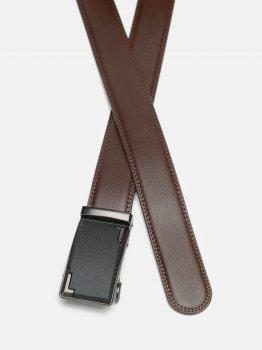 Мужской ремень кожаный Laras CV10587-1-brown 120-130 см Коричневый (ROZ6400028270)