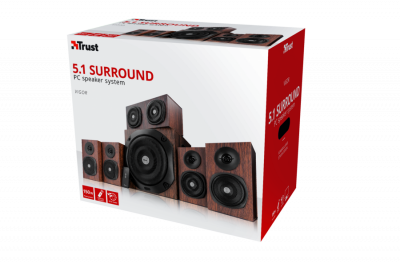 Акустична система Trust Vigor 5.1 surround speaker system for pc - brown (21786)