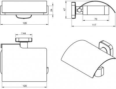 Тримач для туалетного паперу VOLLE Teo 15-88-440 хром