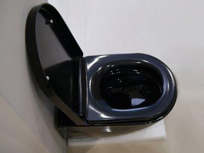 Унитаз подвесной NEWARC Modern Rimless 3823B NEW с сиденьем Soft Close дюропласт черный