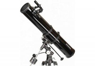 Телескоп Arsenal - Synta 114/900, EQ1, рефлектор Ньютона, с окулярами PL6.3 и PL17 (1149EQ1)