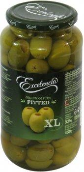 Оливки Exelencia Гордаль зелёные без косточки 110/150 950 мл (8410971034454)