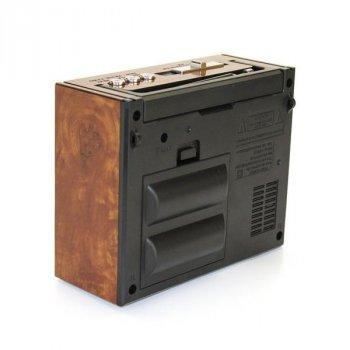Акустична система Golon всехвильовий радіоприймач колонка з радіо ліхтар USB, SD FM Коричневий (RX-201)