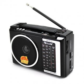 Акустична система Golon радіоприймач колонка радіо, Bluetooth з USB входом Чорна (RX16BT)