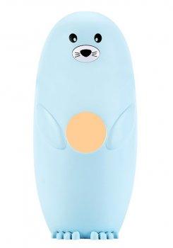 Детский мини-увлажнитель воздуха ароматизатор USB Морской Котик LED диффузер ночник 250 мл Голубой