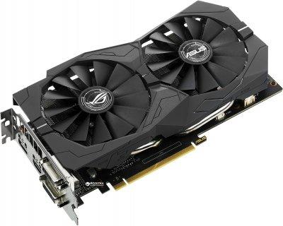 Asus PCI-Ex GeForce GTX 1050 Ti ROG Strix 4GB GDDR5 (128bit) (1290/7008) (2 x DVI, HDMI, DisplayPort) (STRIX-GTX1050TI-4G-GAMING)