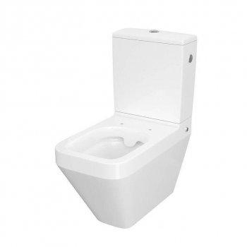 Унитаз компакта CREA 010/020 SQUAREL с сиденьем дюропл SLIM LIFT Cersanit Белый (000020683)