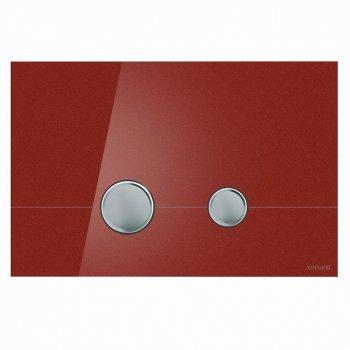 Кнопка слива STERO красное стекло Cersanit (000019665)