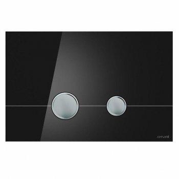 Кнопка слива STERO черное стекло Cersanit (000019662)