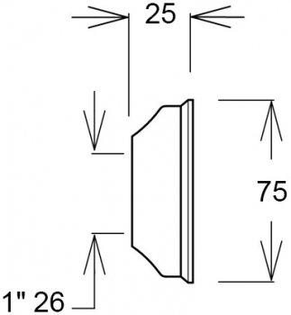 Чашка GHIDINI DN26 х 75 / 25 мм INOX (839)